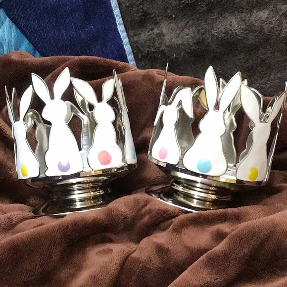 🐰 🐰 2 bath and body works bunny candle holders